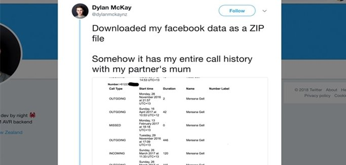 """Facebook collected users' call and SMS logs with """"their permission"""""""