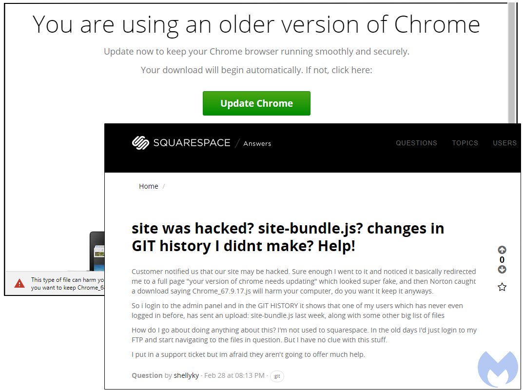 Fake Chrome & Firefox browser update lead users to malware infection