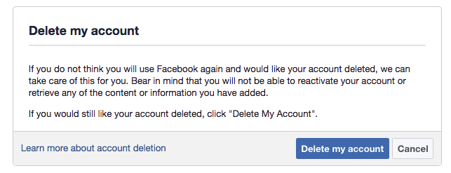 How to Permanently Delete Your Facebook Account - 2018 Guide