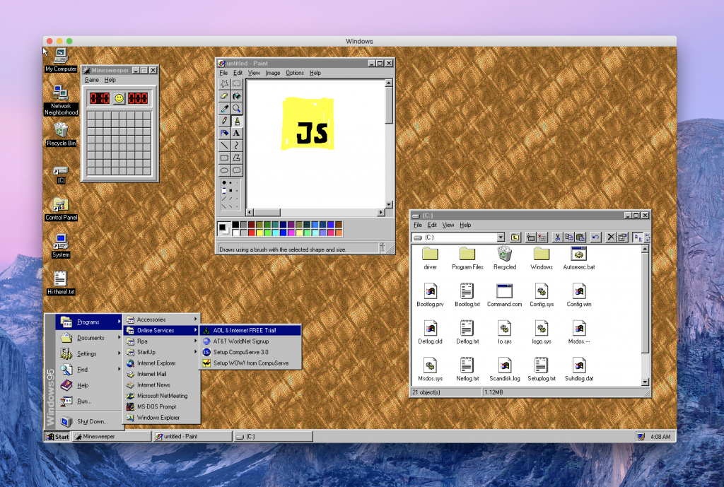 You can now run Windows 95 on your Mac, Linux and Windows 10 devices  - you can now run windows 95 on your mac linux and windows 10 devices 2 1024x689 - You can now run Windows 95 on your Mac, Linux and Windows 10 devices
