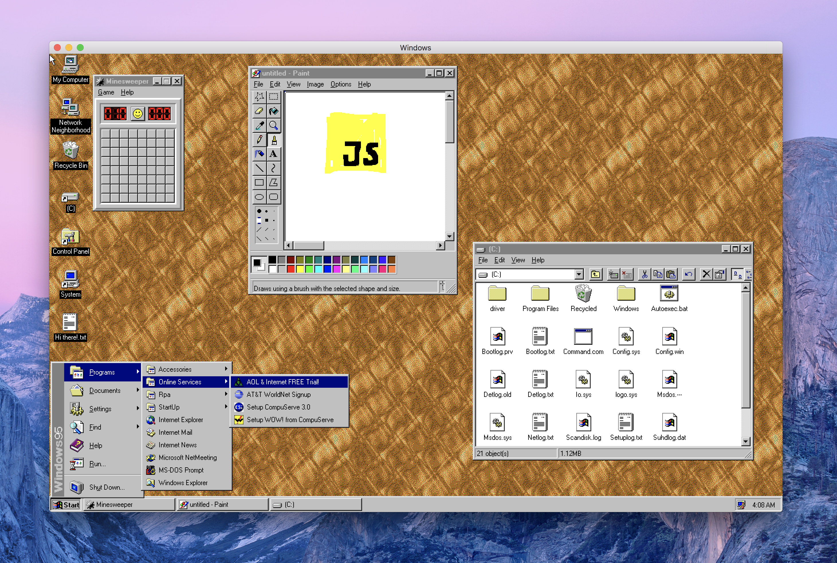 You can now run Windows 95 on your Mac, Linux and Windows 10
