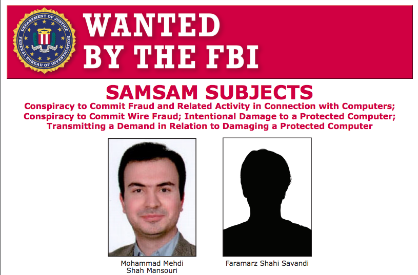 2 Iranian hackers behind SamSam ransomware charged by Feds