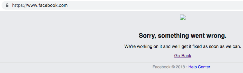 You are not alone; social media giant Facebook is down