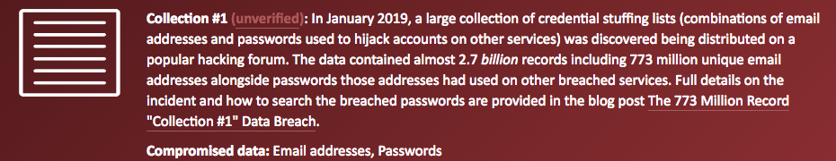 773 million records with emails & plain text passwords leaked online