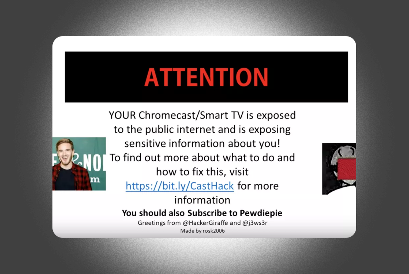 Hackers Play PewDiePie Ad On Thousands Of Hacked