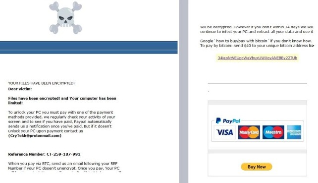 New ransomware steals PayPal data with phishing link in ransom note  - paypal phishing ransomware scam 1 - New ransomware steals PayPal data with phishing link in ransom note