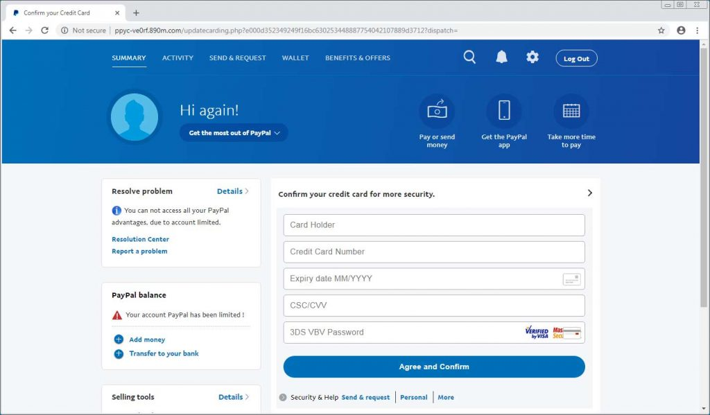 New ransomware steals PayPal data with phishing link in ransom note  - paypal phishing ransomware scam 2 1024x599 - New ransomware steals PayPal data with phishing link in ransom note