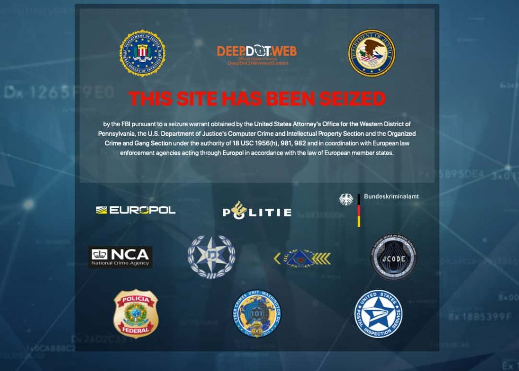 DeepDotWeb, Wall St and Valhalla markets seized by authorities