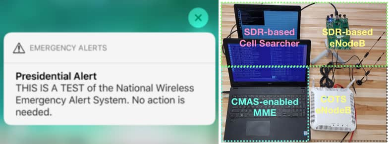 Researchers exploit LTE flaws to send 50,000 fake presidential alerts