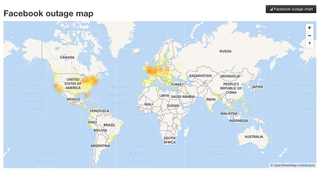 Facebook and Instagram suffer massive outage