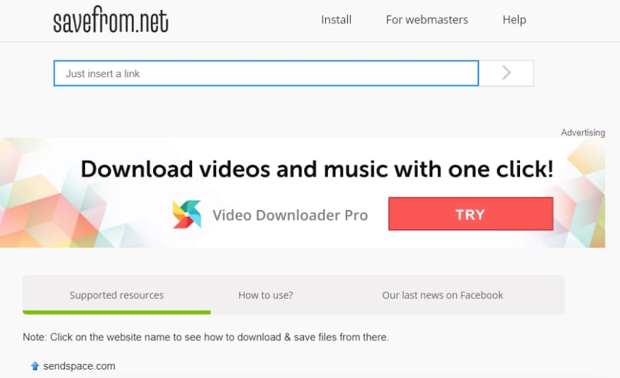 How to download online video & audio files with new tool from SaveFrom.net