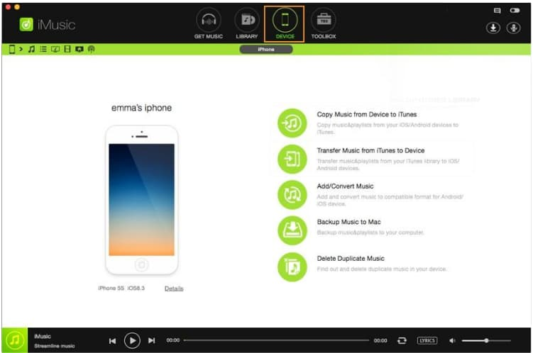 How to have your favorite playlist with you using iMusic
