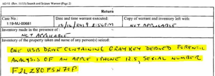 FBI unlocks iPhone 11-Pro Max with-Graykey