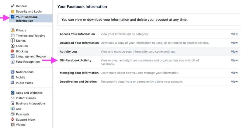 Use Off-Facebook tool to stop Facebook from tracking your activities