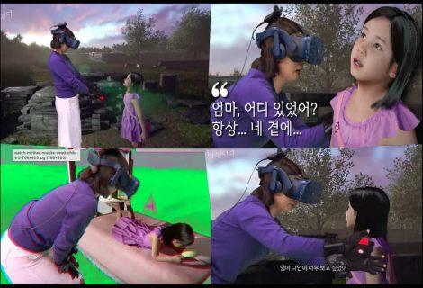 Watch as virtual reality helps mom meet her deceased daughter