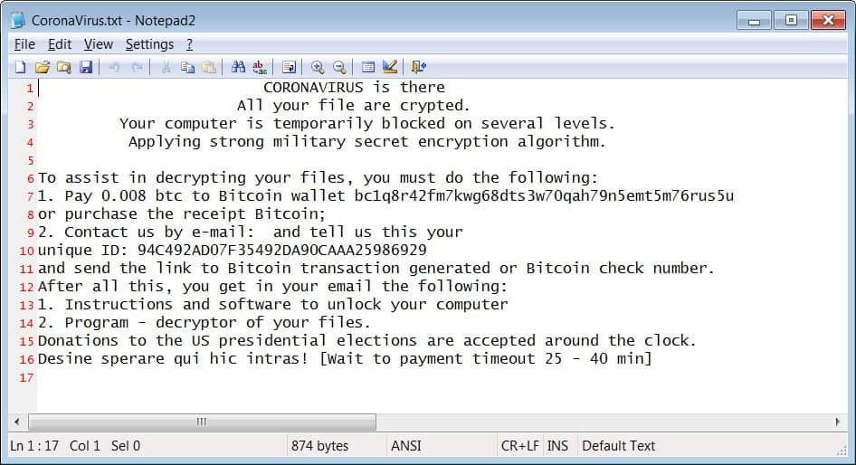 Fake Wisecleaner website spreading CoronaVirus ransomware
