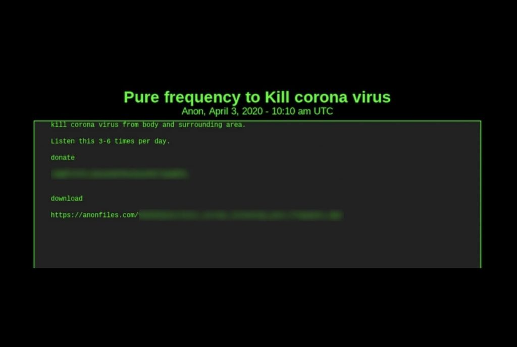 Dark web scammers selling ventilators & MP3 files to cure Coronavirus