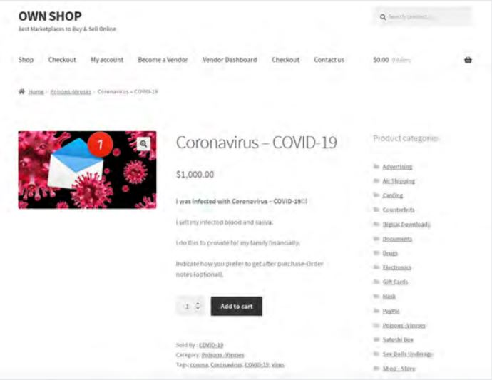 Fake Coronavirus vaccines, patients' blood & saliva sold on dark web