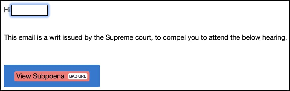 Fake subpoena emails from the UK supreme court are targeting users