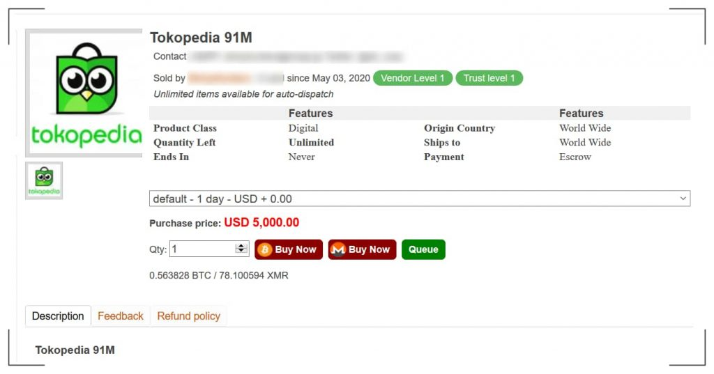 Tokopedia hacked - Login credentials of 91 million users sold online
