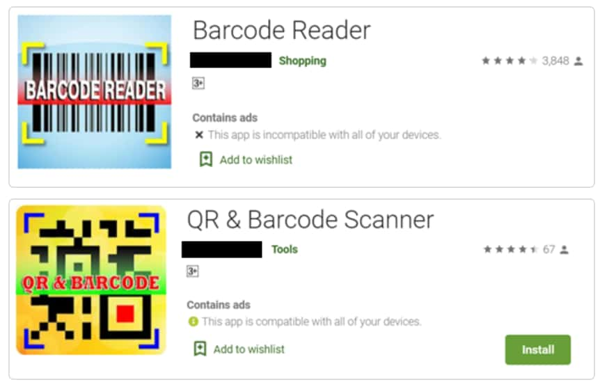 Barcode Reader Apps on Play Store Infected with Adware