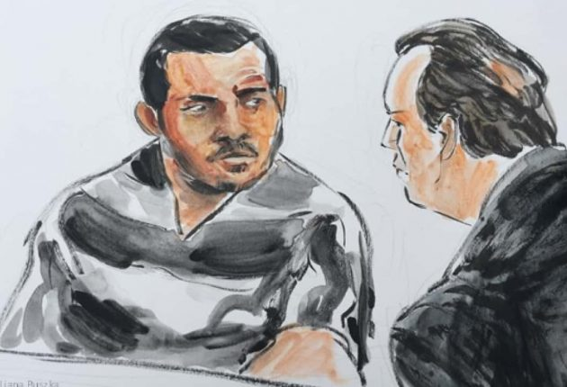 Buster Hernandez Courtroom sketch (Image credit: FOX39)