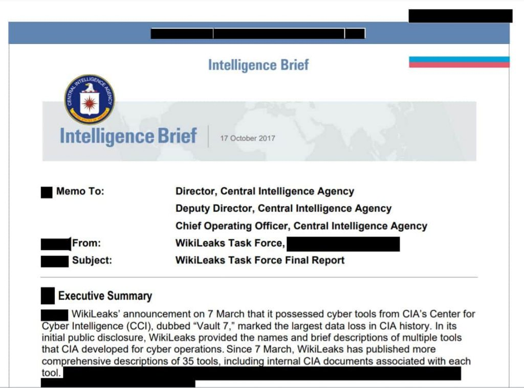 CIA report reveals a lack of security measures in its operations