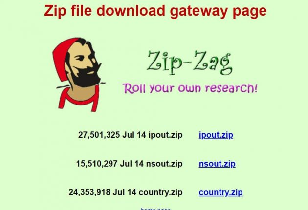 The website claims anyone can download the IP addresses of almost 3 million websites.  Image credit: Hackread.com