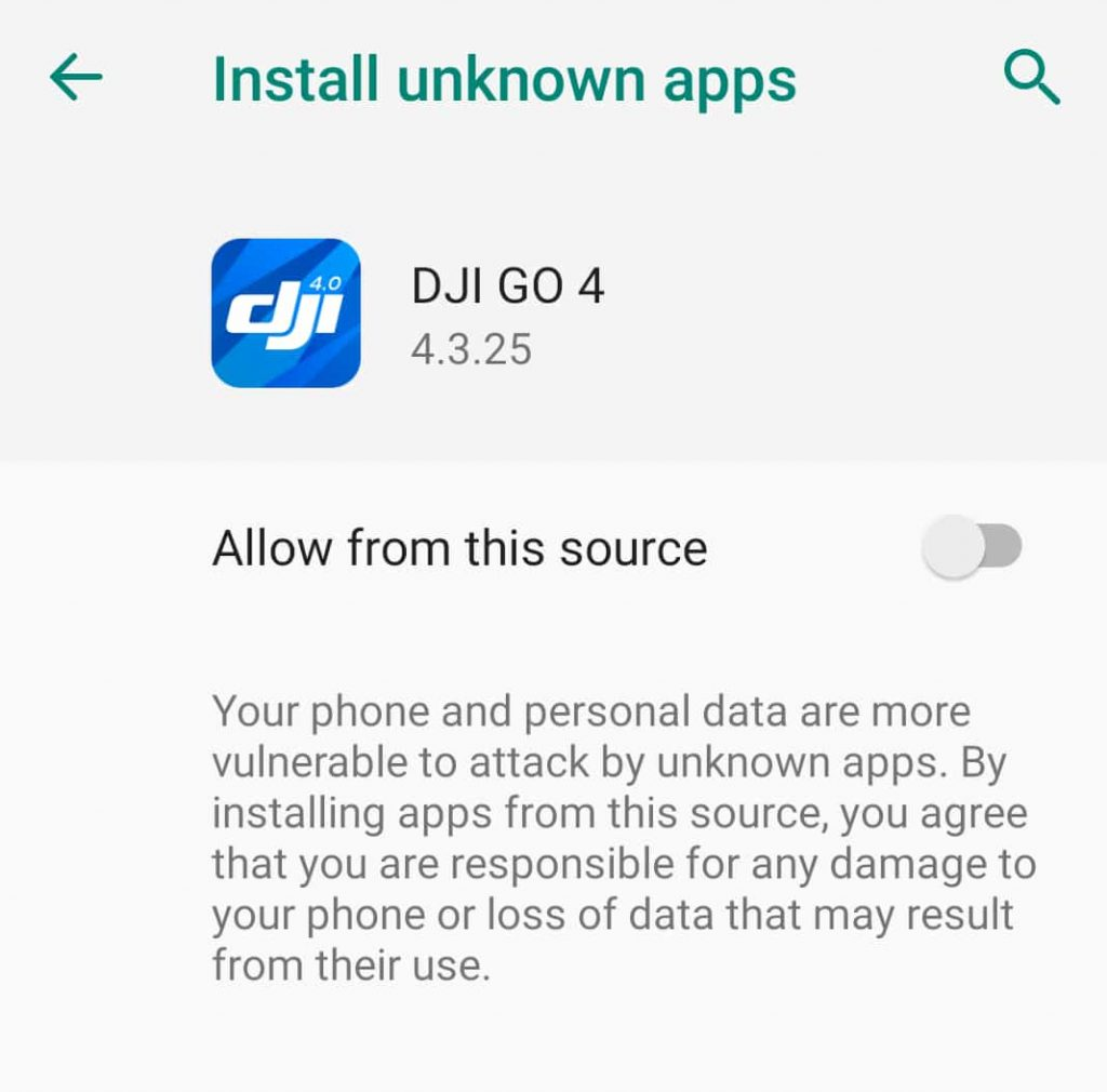 DJI drone app can transfer sensitive data and install malicious apps