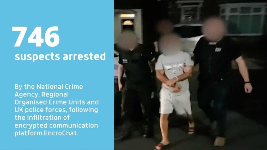 Encrypted phone service EnroChat dismantled; leading to 800+ arrests