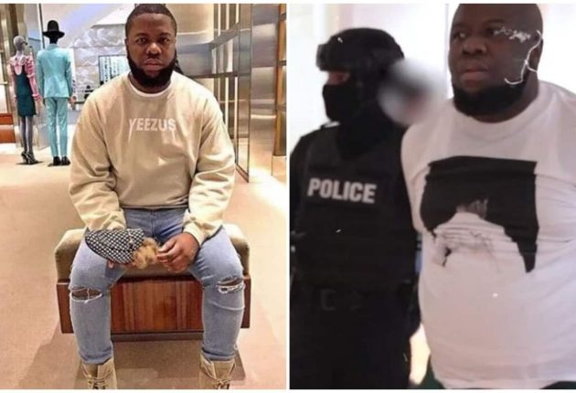 Ray Hushpuppi arrest photo