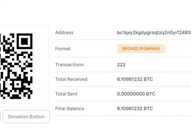 BTC wallet of the hackers at the time of the hack