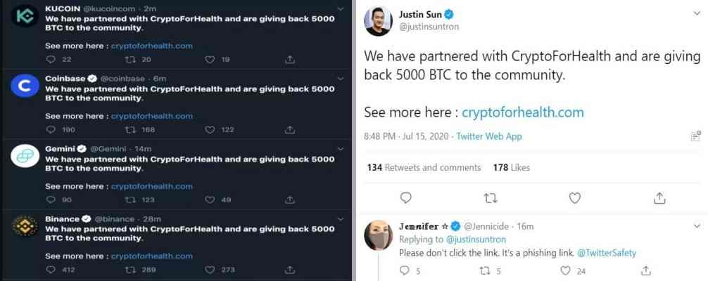 Prominent & verified Twitter accounts hacked to run crypto scam