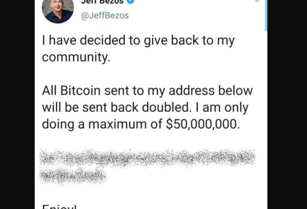 Jeff Bezos' hacked Twitter account