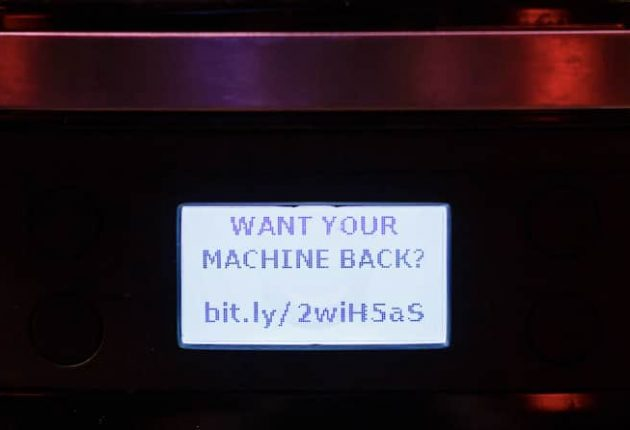 Coffee machine hacked with ransomware (Image: Avast)