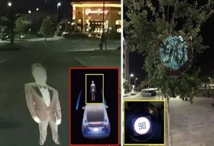 Self-driving cars can be fooled by displaying virtual objects