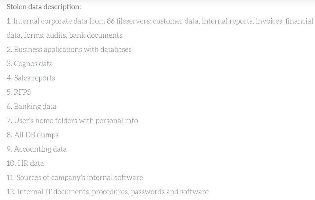 Mount Locker ransomware group leaks 18Gb worth Gunnebo AB data