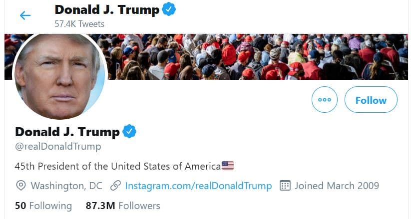 Researcher logs into Trump's Twitter with password MAGA2020