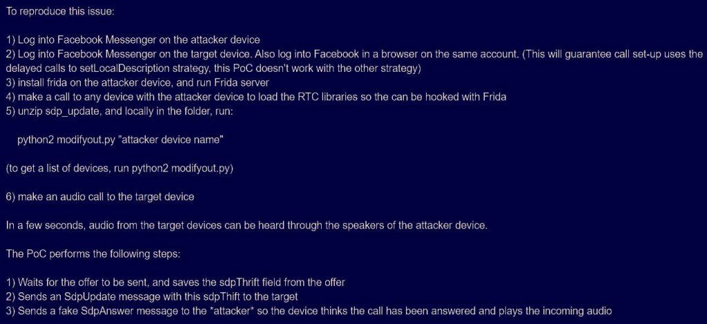 Facebook Messenger bug allowed callers to listen unattended calls