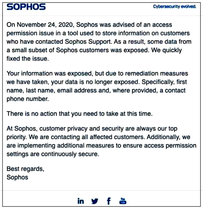 Sophos breach: Customer data exposed due to permission access flaw