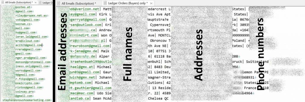 Ledger data breach: Hacker leaks stolen database on hacking forum