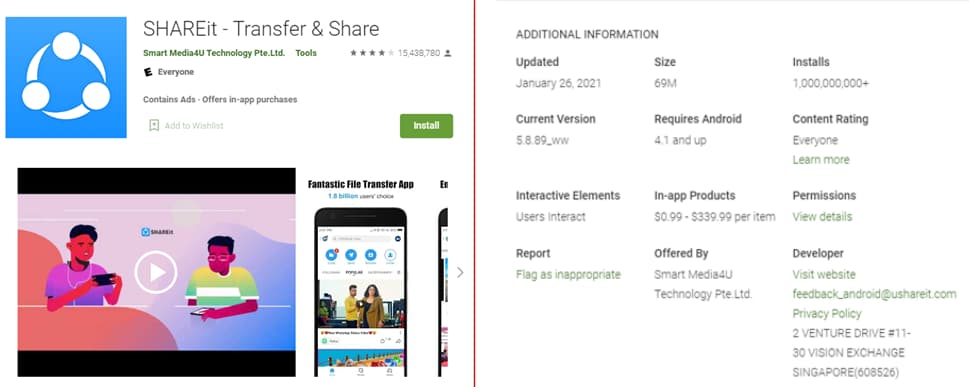 Android app with 1 billion users fails to fix flaws; exposed to malware