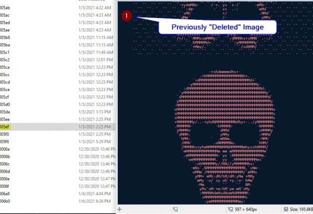 Recovered and unencrypted image on WindowsImage: John J Hacking