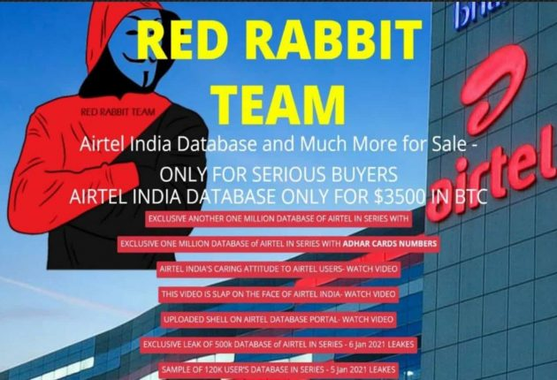 Screenshot from the Red Rabbit Team's official website