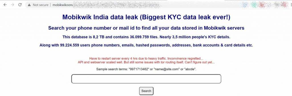 8.2TB of MobiKwik user data stolen; trove of it leaked online