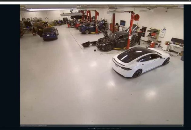 Hacked security footage shows Tesla warehouse
