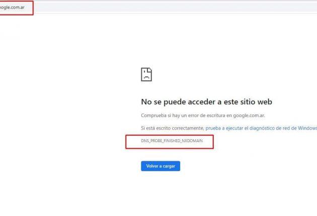 Offline Google.com.ar domain – Image: @mgonto/Twitter