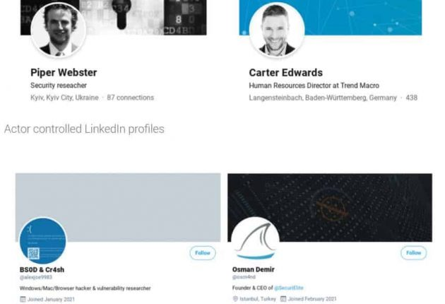 Fake profiles controlled by hackers (Image: Google)