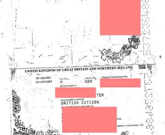 A British passport among leaked data (Image credit: Hackread.com)