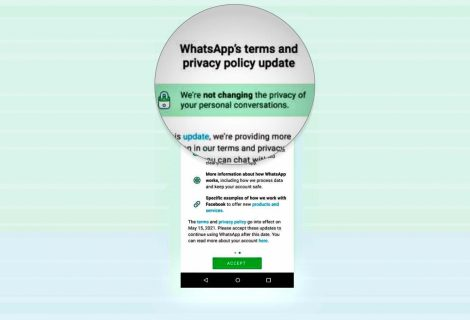 Accept new privacy policies or use WhatsApp with limited features
